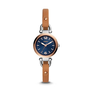 Fossil Georgia Three-Hand Leather ES4277