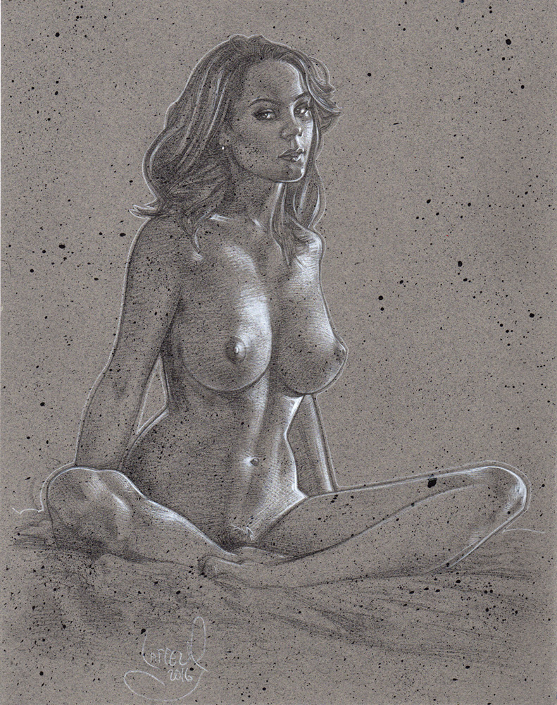 Nude Woman Sitting, Artwork© Jeff Lafferty