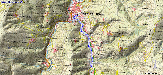 Mapa del Paseo del Vino en Cangas del Narcea