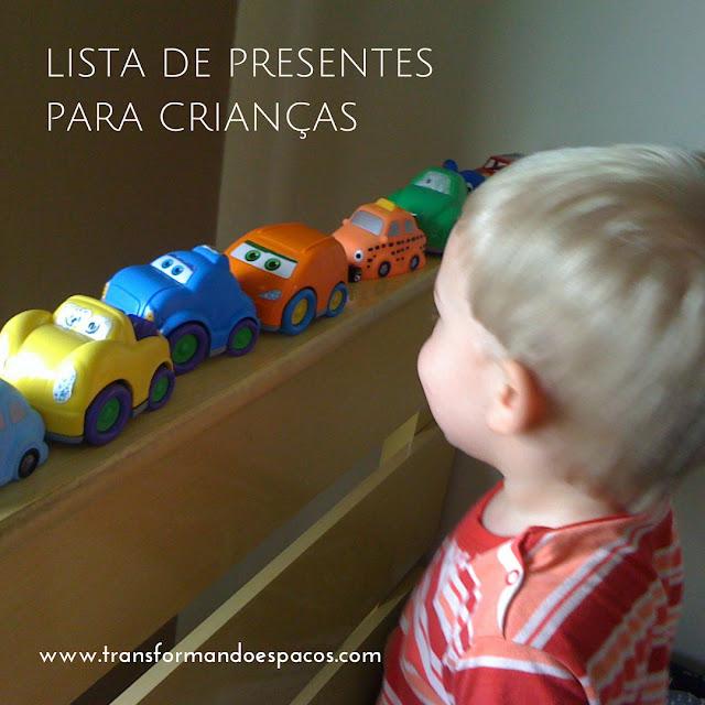 Lista de Presentes para Crianças