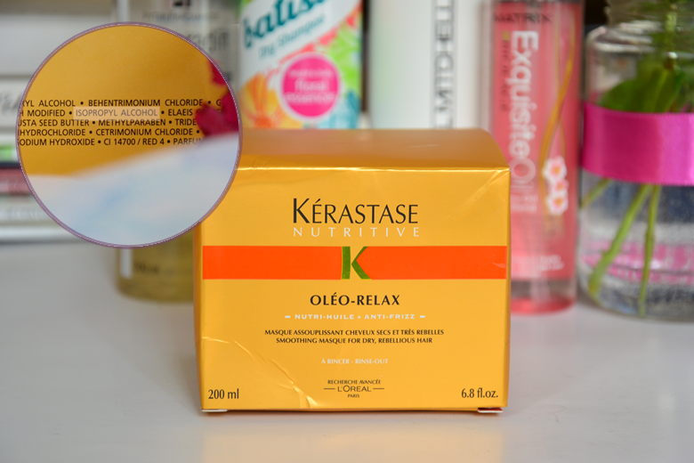 kerastase oleo relax nutritive maska do włosów isopropyl alcohol