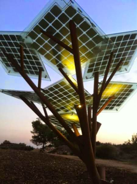 Information Solar Powered Trees