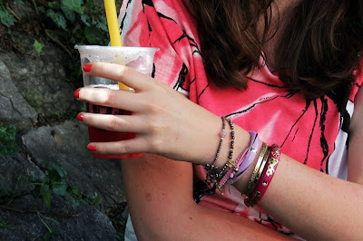 Armparty in pink & purple
