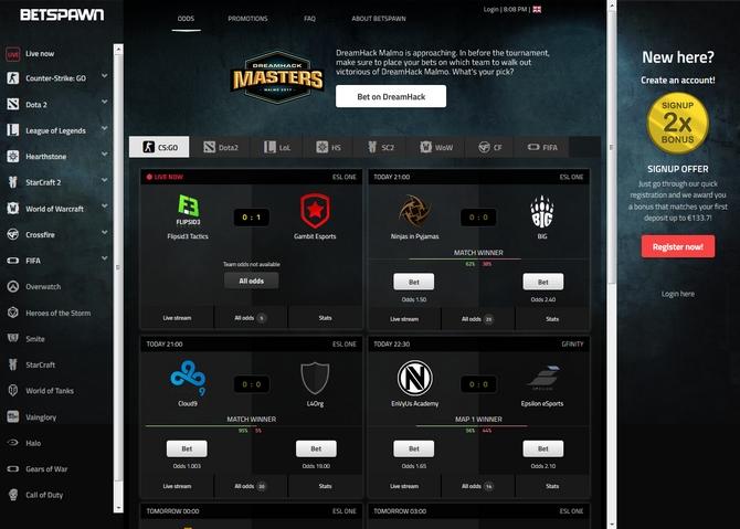 Betspawn Screen