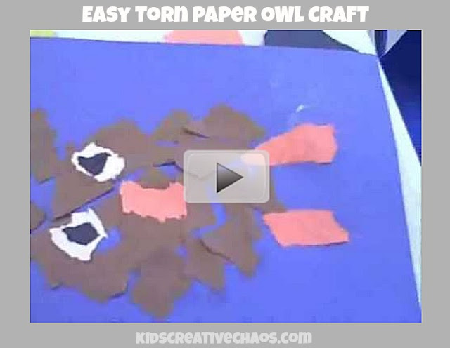Easy Preschool Torn Paper OWL Craft