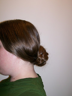Finished 1850s wide side bands with rats or frizettes for volume.
