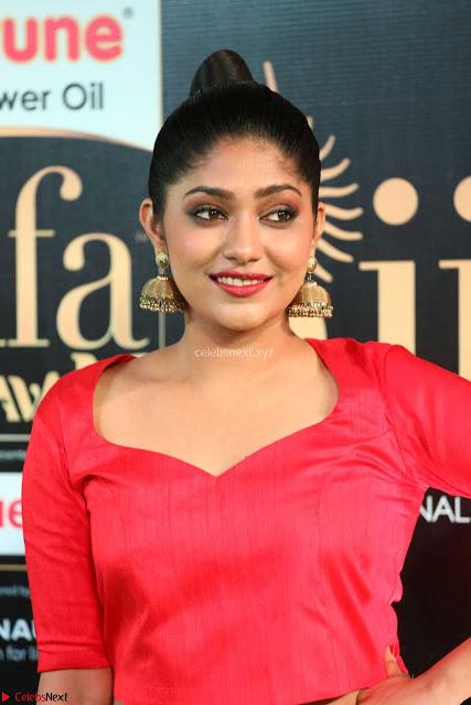 Samyukta Hamod in Red Crop top Brown Skirt at IIFA Utsavam Awards 006.JPG