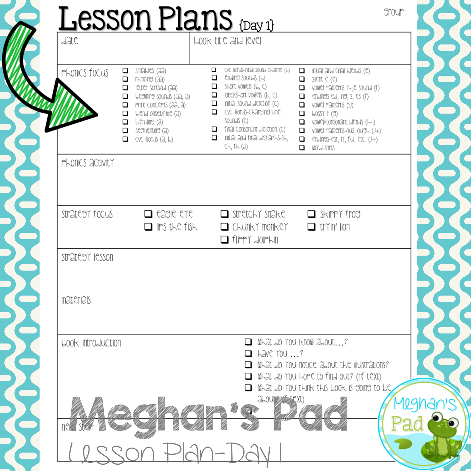Teach Child How To Read Phonics Planning Sheet