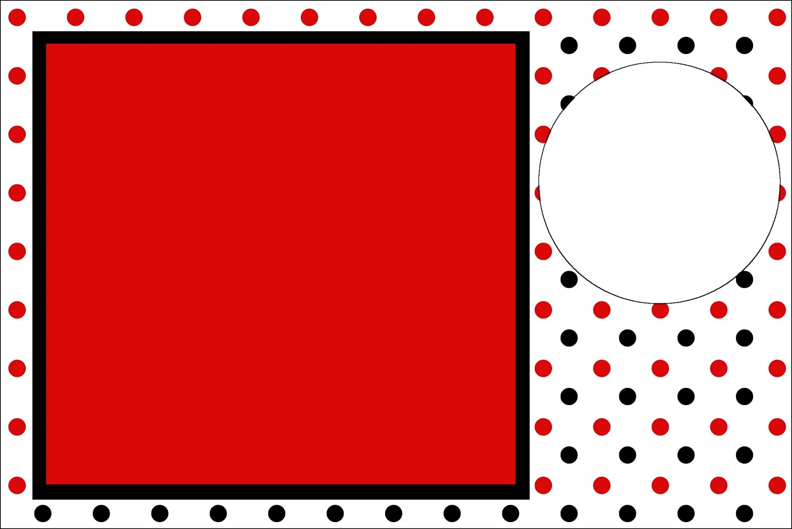 Red Polka Dots in Black and White: Free Printable Invitations. | Oh ...