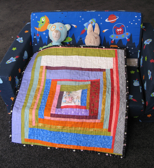 Doll Quilt... Peter Rabbit centre and log cabin style ~ Threading My Way