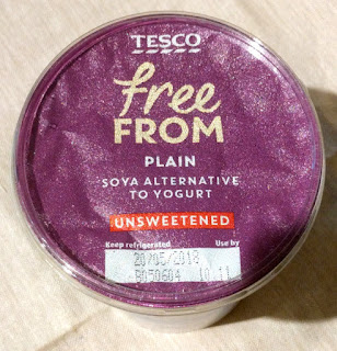 Tesco free from unsweetened soy yogurt