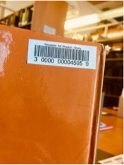 The back of a book showing a new barcode