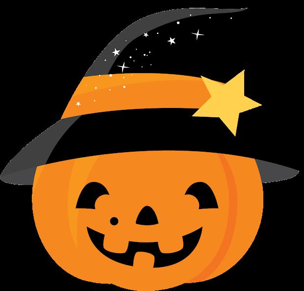 Halloween Pumpkin Clipart. Fiesta In English