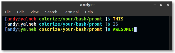 Colorize Your Terminal Bash Prompt