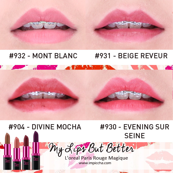 Loreal Paris Rouge Magique's Lipstick - My Lips But Better