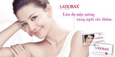 Thành phần chính của viên uống trắng da Ladorax.