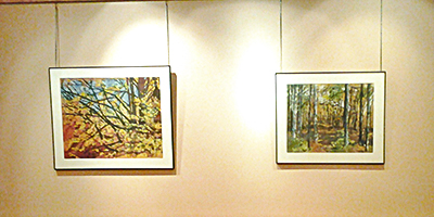"Art Show ""Unconventional Watercolor"" by Krista Hasson is Hung and Ready to Go"