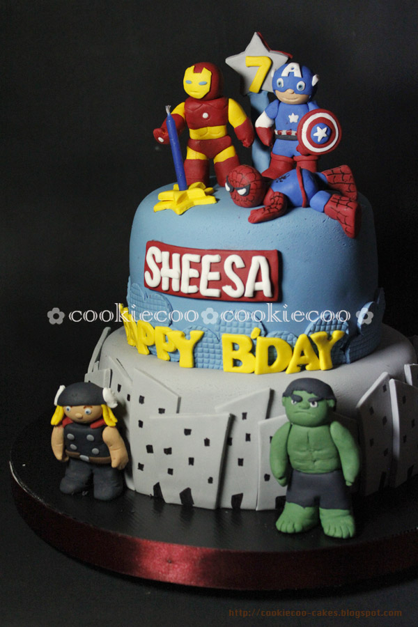 cookiecoo Marvel Heroes cake for Sheesa