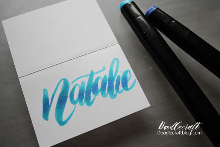 Doodlecraft: ombre brush calligraphy lettering tutorial!