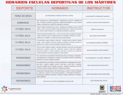 Escuelas Deportivas de los Mártires
