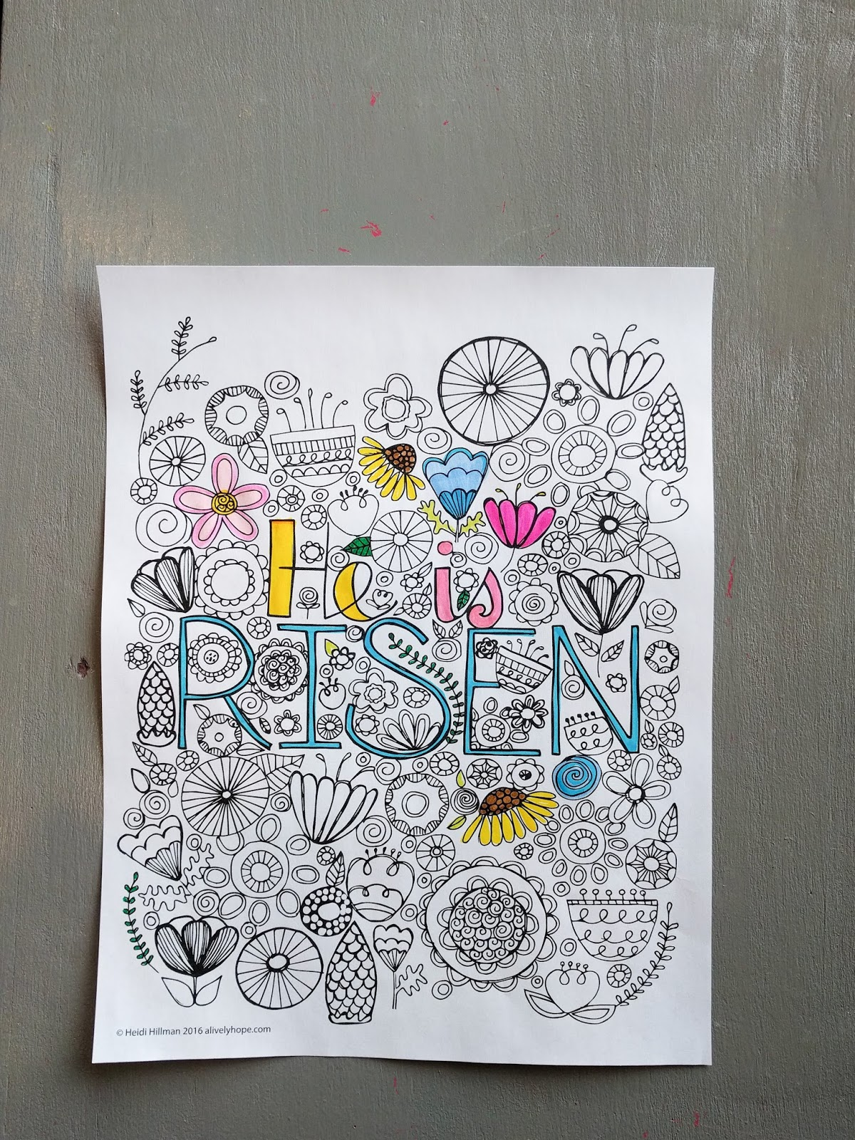 A Lively Hope: He is Risen Coloring Page (free download!)