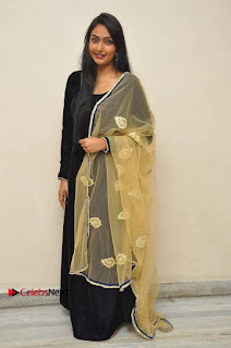 Actress Grace Myrtle Pos in Black Anarkali Dress at Beep Short Film Press Meet  0013.jpg