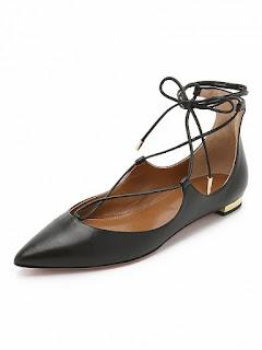 czarne baleriny l wiązane buty l choies