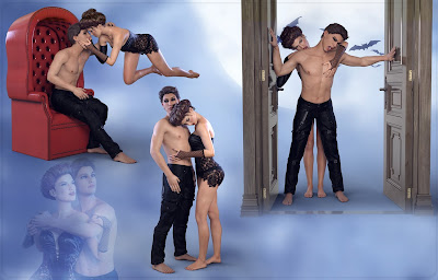 Z In the Shadow Of Love - Romantic Couple Poses for Genesis 3 Male(s) and Female(s)