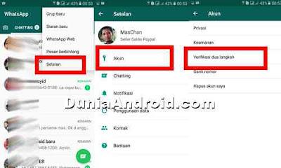 akses menu setelan di whatsapp
