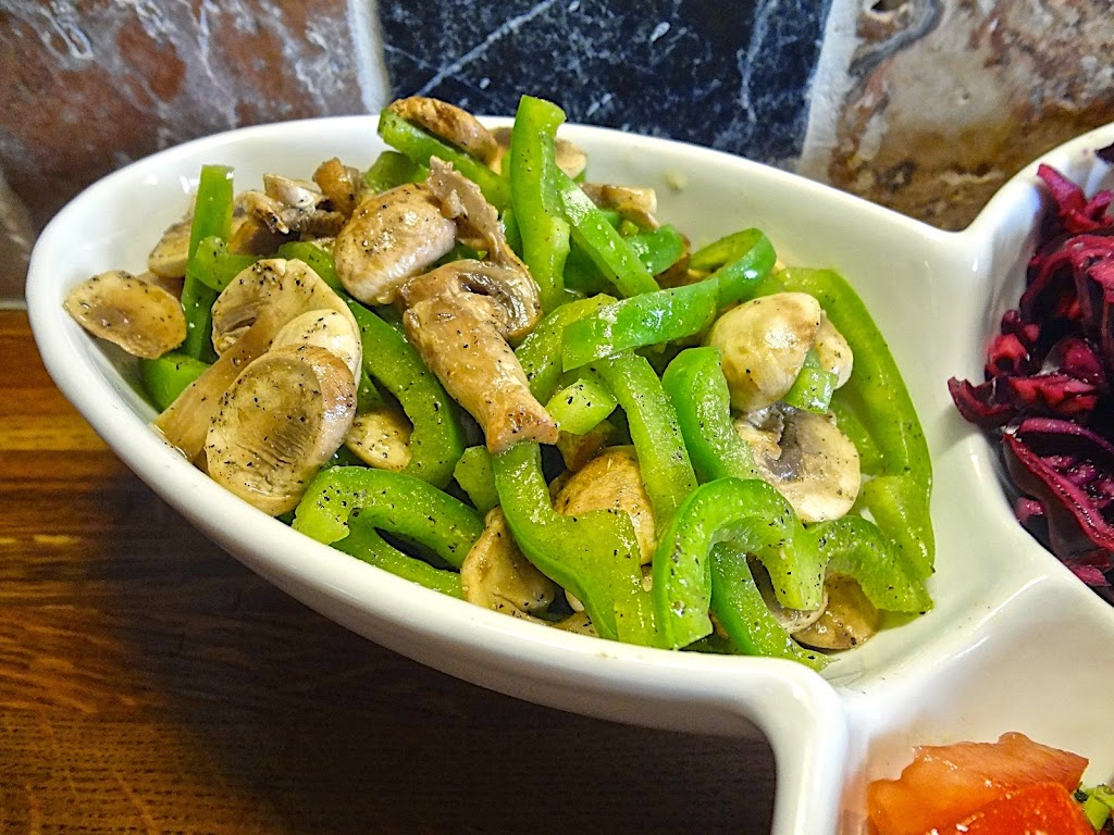 Marinated Mushroom & Green Pepper