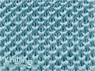 Bee stitch - Great stitch pattern. Looks like the Pear Brioche Knitting.