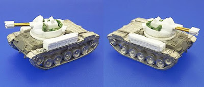 Next up we've got the M42 Duster, another anti-aircraft vehicle which took the same 40mm Bofors turret from the M19 above and mounted it onto the Walker Bulldog hull.