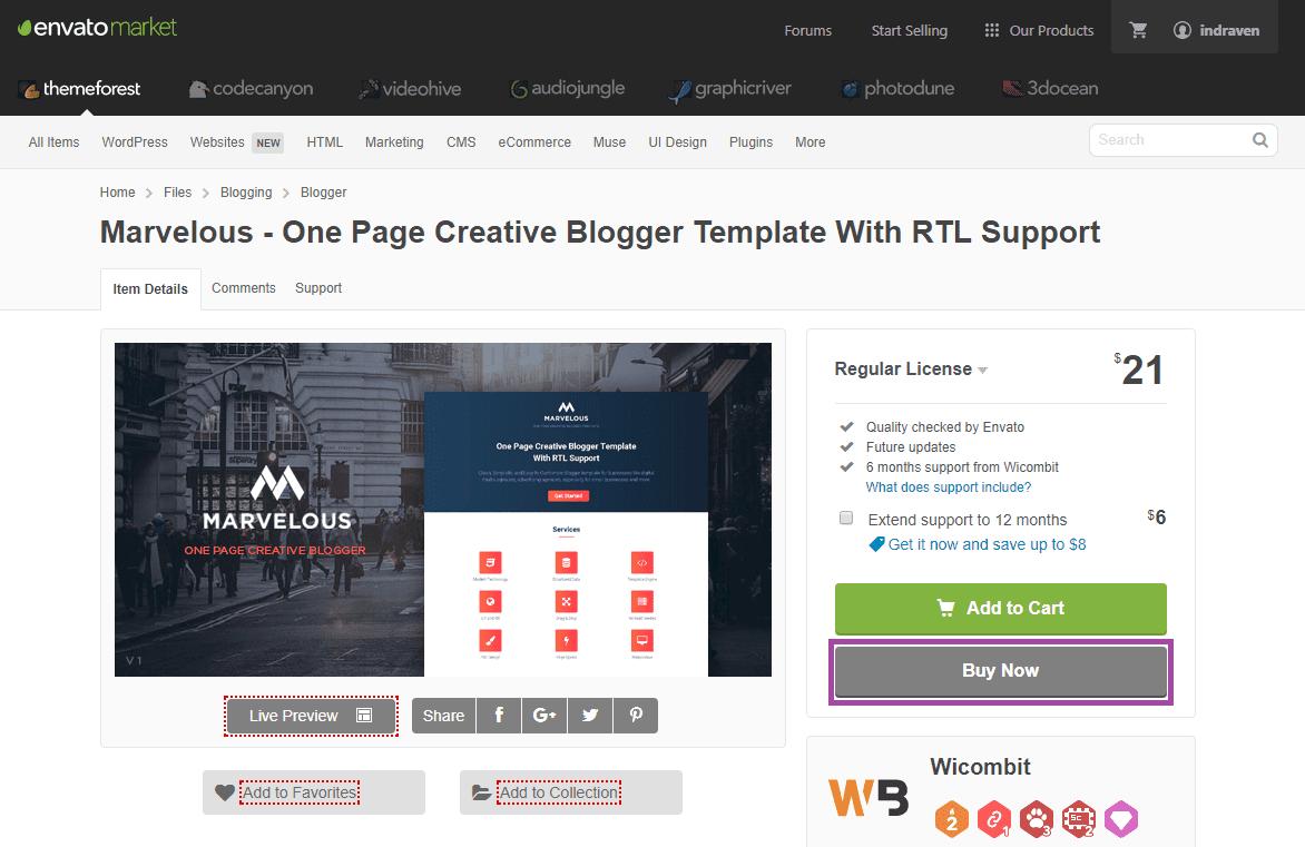 step 1 deposit envato dan membeli template themeforest