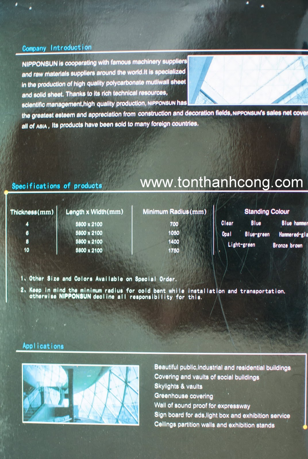 Catalogue Tấm Lấy Sáng Polycarbonate Rỗng Ruột NIPPON - Trang 3
