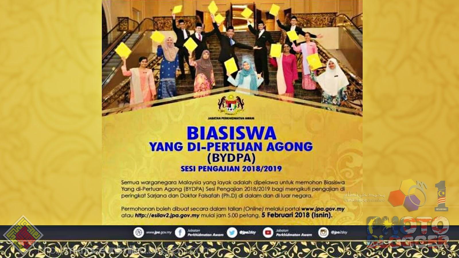 Biasiswa Yang Di Pertuan Agong Bydpa Sesi Pengajian 2018 2019