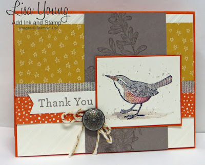 Stampin' Up! An Open Heart stamp set. Handmade thank you card by Lisa Young, Add Ink and Stamp