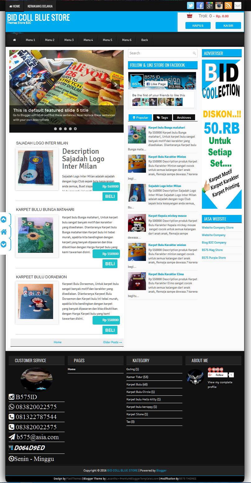 Symetry Blogger Template