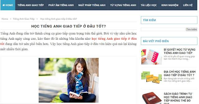 Theme Blogspot đơn giản chuẩn seo 2