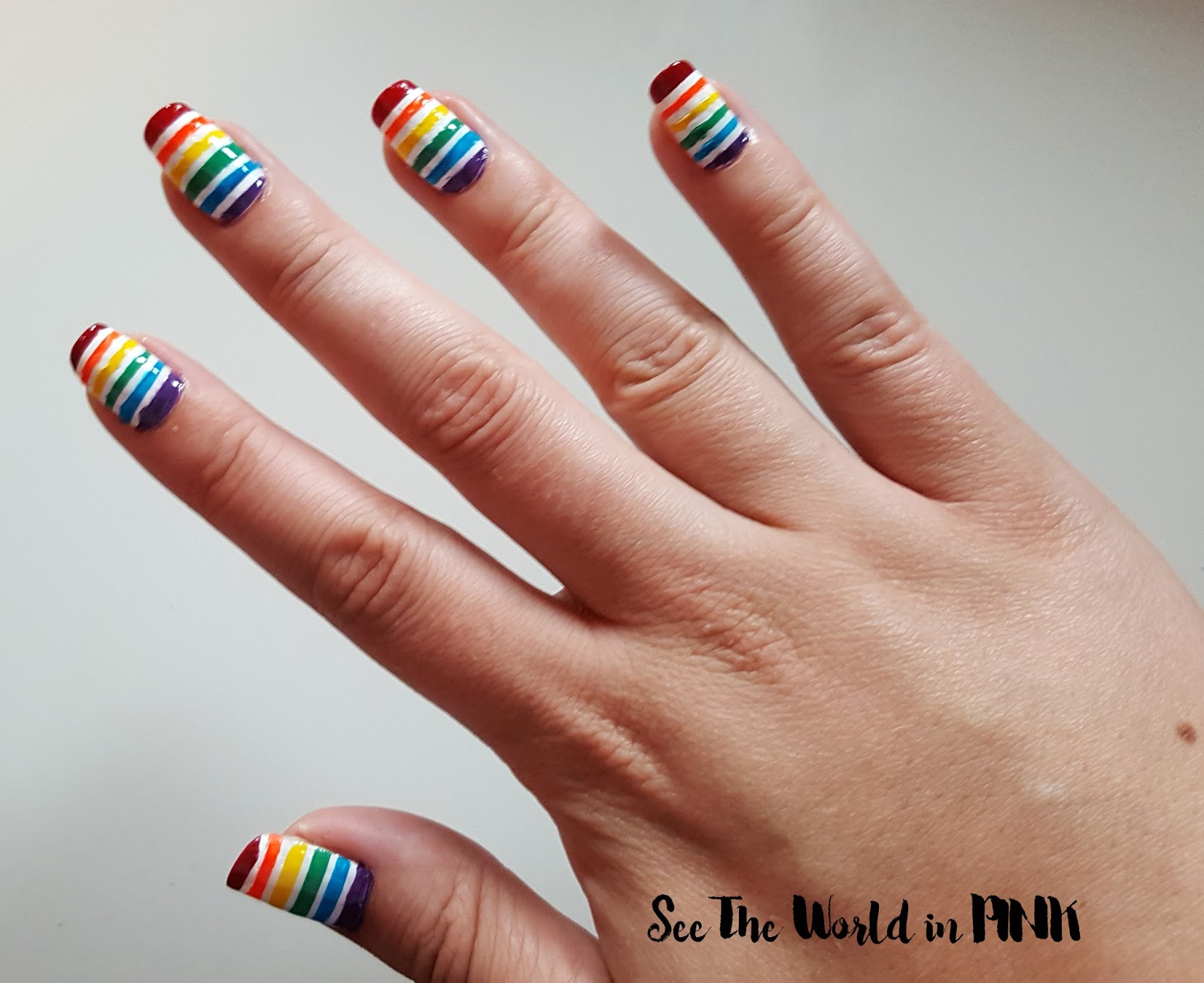 Manicure Monday - YYC Pride Week Rainbow Nails!