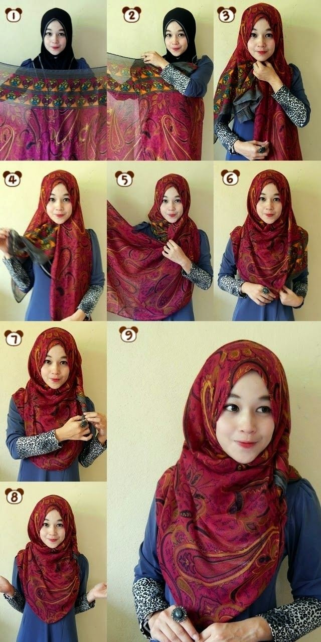 Tutorial Hijab Segi Empat Jaman Sekarang Tutorial Hijab Paling
