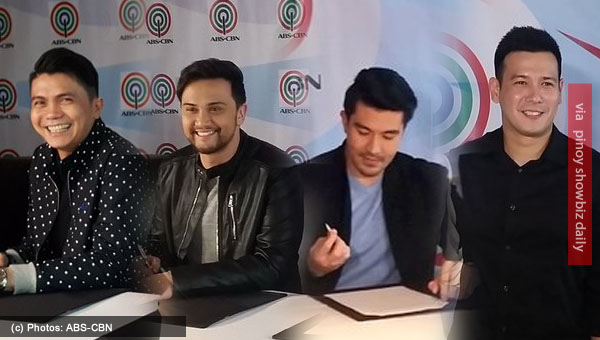 Vhong Navarro, Billy Crawford, Luis Manzano, John Prats renew contract with ABS-CBN
