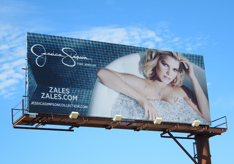 Jessica Simpson Zales diamond bathtub billboard