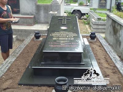 Model Makam Kristen, Model Kuburan Kristen Modern, Makam Granit Kristen