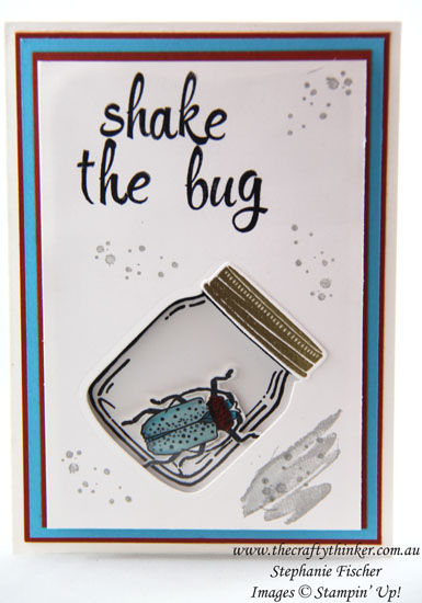 Beetles & Bugs, Get Well, Shaker card, Jar Of Love, #thecraftythinker, #internationalhighlightstoptenbloghop, Stampin Up Australia Demonstrator, Stephanie Fischer, Sydney NSW