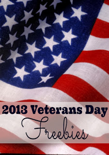 Veterans Day freebie meals