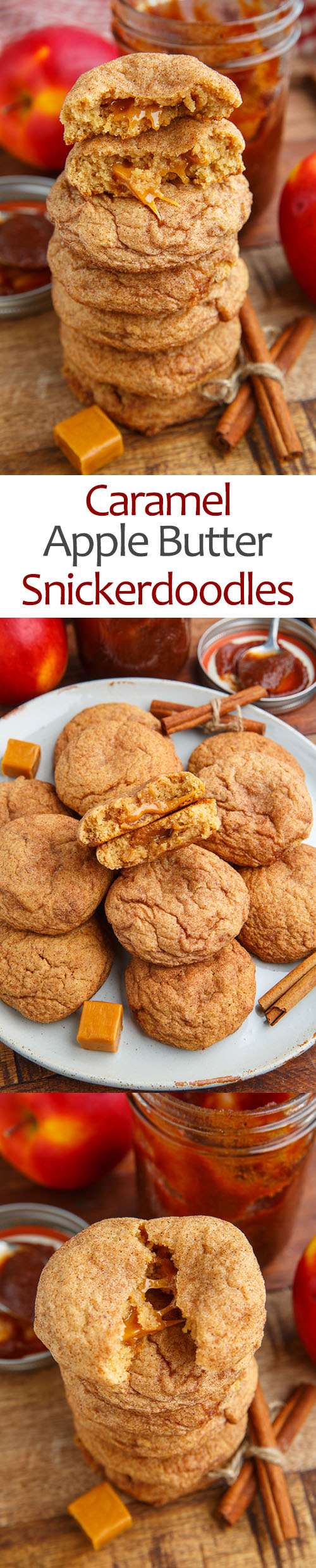 Caramel Apple Snickerdoodles