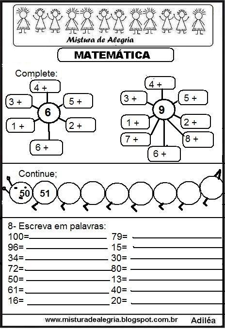 Fabuloso ATIVIDADES DE MATEMÁTICA PARA SÉRIES INICIAIS DE ALFABETIZAÇÃO  JG09