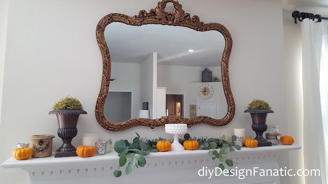fall, sunflowers, mantel, farmhouse, cottage, farmhouse style, cottage style, family room, Craftberry Bush