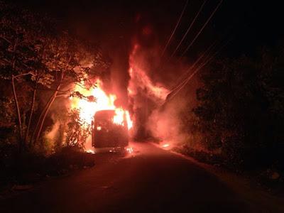 Criminosos realizam série de ataques a ônibus coletivos em São Luís.
