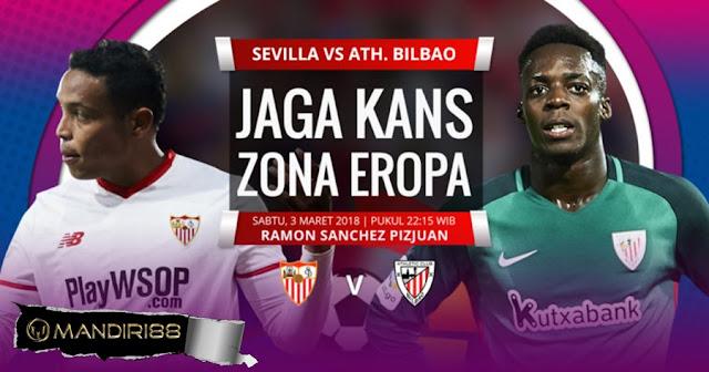 Prediksi Sevilla Vs Athletic Bilbao, Sabtu 03 Maret 2018 Pukul 22.15 WIB